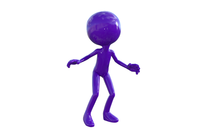 Careful, Watch Out, Attention, Caution, Purple Man, 3d