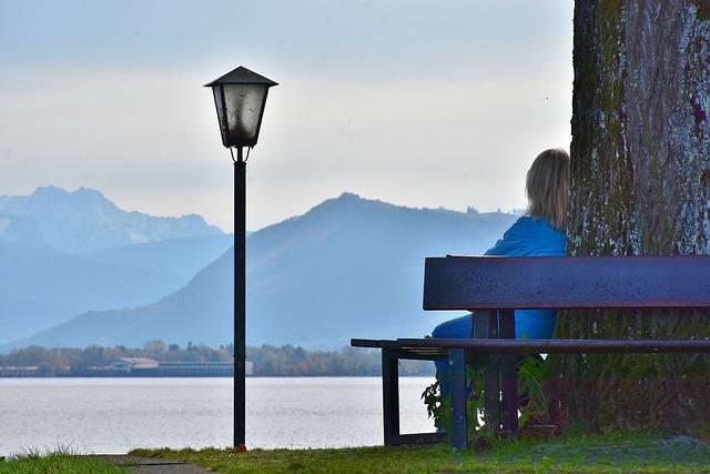 Woman, Sit, Panorama, Meditation, Watch, Thoughtful