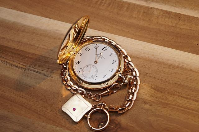 Clock, Onion, Pocket Watch, Jewellery, Gold, Watches