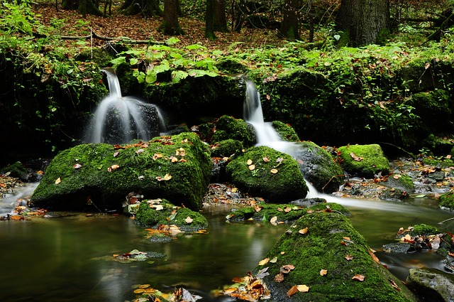 Bach, Waterfall, Stones, Water