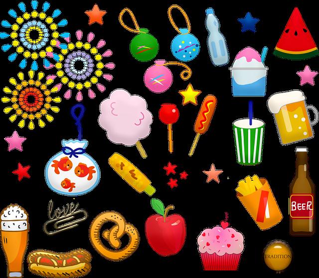 Summer Fair, Food, Goldfish, Water Balloons, Beer