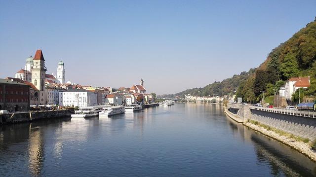 City, River, Passau, Bavaria, Historically, Water