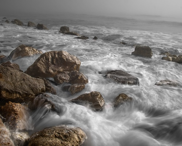 Ocean, Waves, Tide, Stones, Beach, Water, Flowing