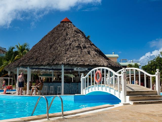 Cuba, Pool, Blue, Water, Swimming Pool, Outdoor Pool