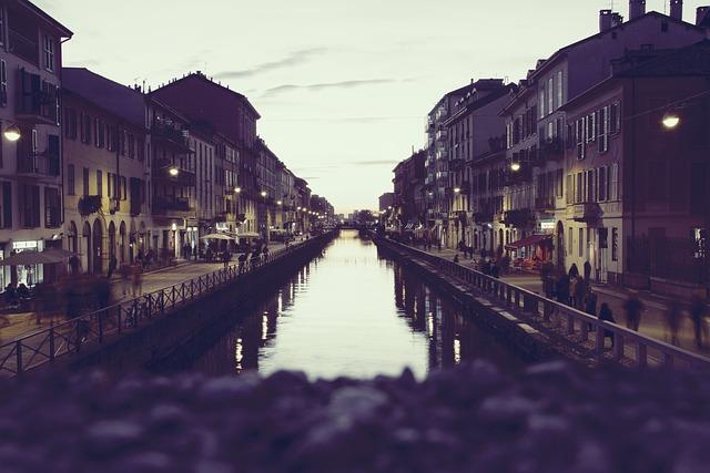 Night, Water, Buildings, City, Boardwalk, Bridge, Shops