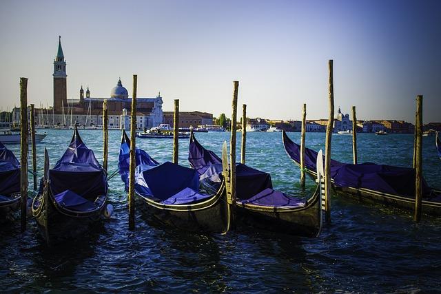 Venice, Gondola, Water, Italy, Boats