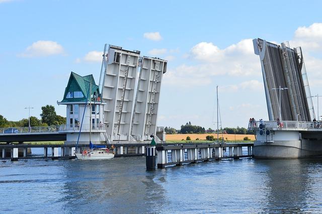 Kappeln, Schlei, Bascule Bridge, Bridge, Water