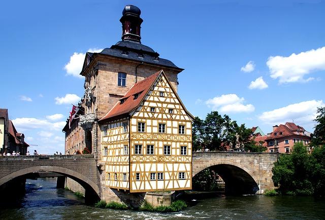 Fachwerkhaus, River, Bridge, Middle Ages, Water