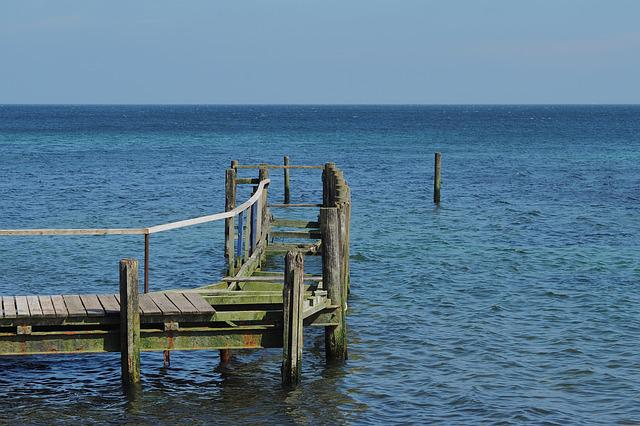 Waters, Sea, Ocean, Pier, Coast, Rügen, Bridge, Water