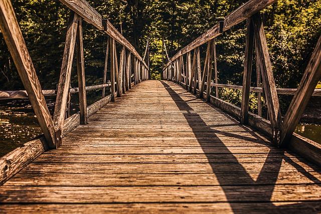 Good, Bridge, Passage, Nature, Tree, River, Water, Blue