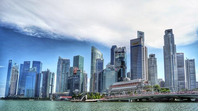 Singapore singapore river skyline building water