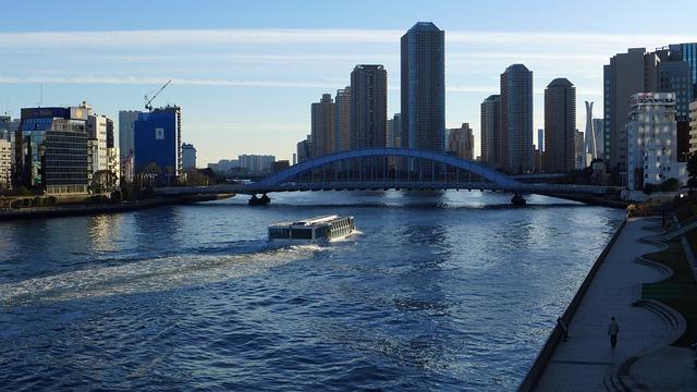 Sumida River, Eitai Bridge, Water Bus