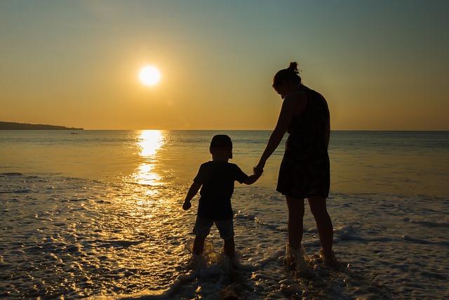 Sunset, Sea, Beach, Abendstimmung, Water, By The Sea