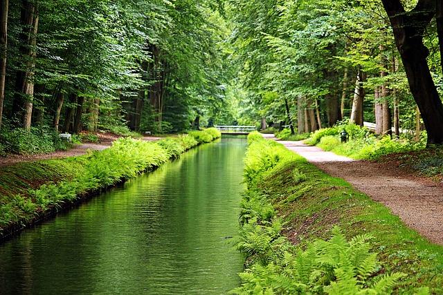 Castle Park, Ludwigslust-parchim, Water, Channel