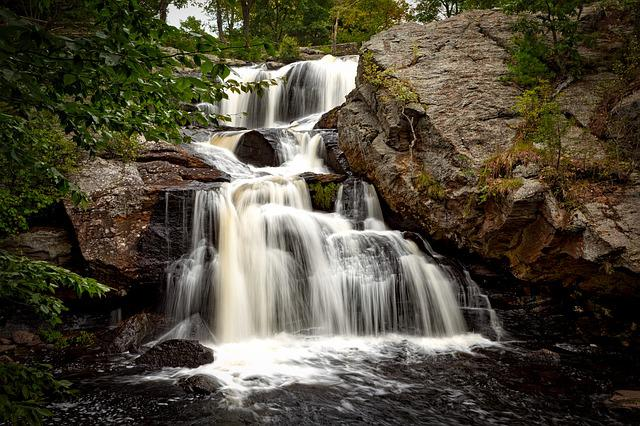 Chapman Falls, Waterfall, Connecticut, Water