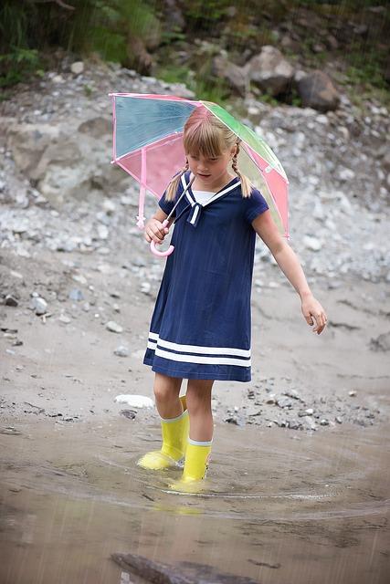Person, Human, Child, Girl, Water, Wet, Rain