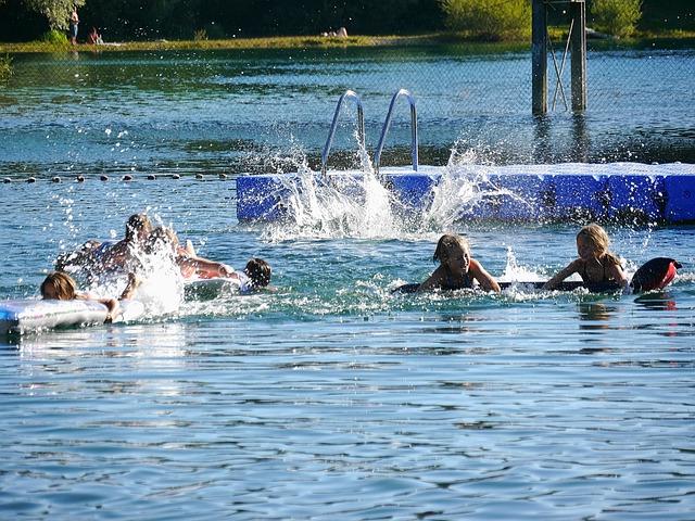 Summer Delights, Fun Bathing, Water, Holidays, Children