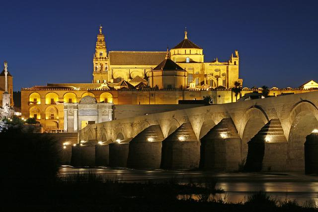 Cordoba, Church, River, Night, Water