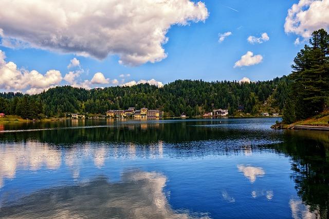 Lake, Bergsee, Mountain Lake, Water, Sky, Clouds