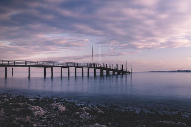 Lake Constance, Jetty, Sunset, Constance Beach, Water