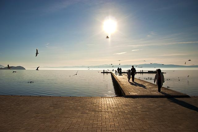 Water, Sunset, Sea, Dawn, Beach