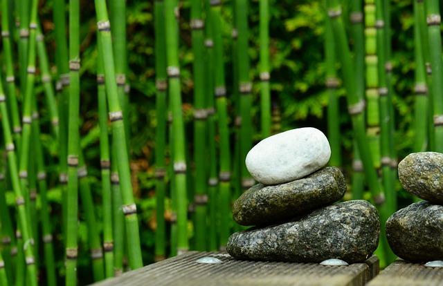 Stones, Bamboo, Decoration, Garden, Water, Garden Pond