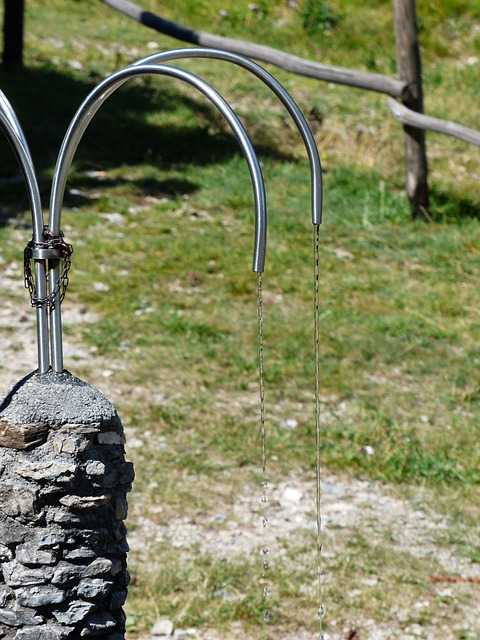 Fountain, Stone Fountain, Water, Water Dispenser, Metal