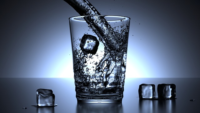 Glass, Water, Ice Cubes, Drink, Cold, Drip, Mirroring