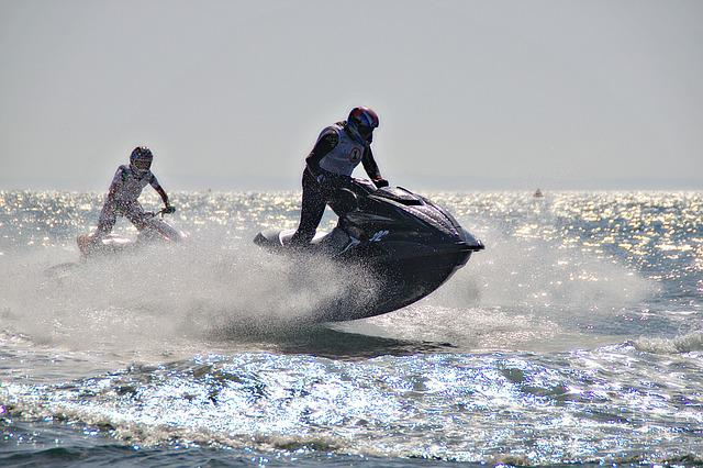 Jet Ski, Sport, Sea, Driver, Water, Leisure, Speed, Man