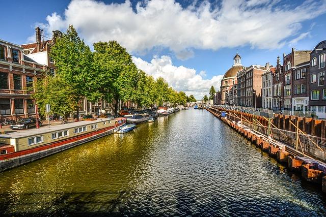 Amsterdam, Canal, Sunny, Summer, Water, Dutch