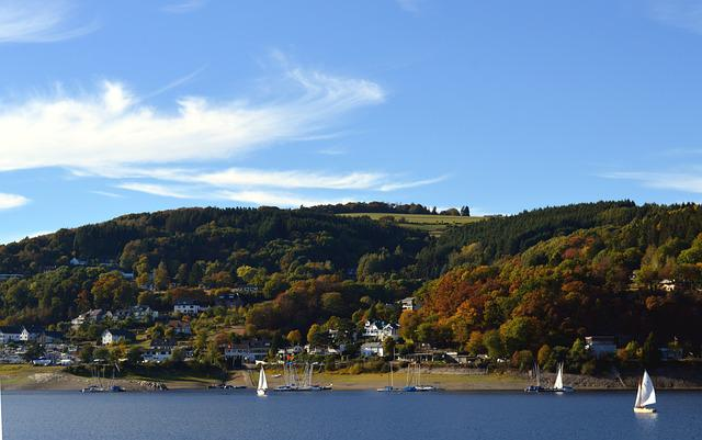 Rurtalsperre, Rurberg, Eifel, Lake, Water, Bank