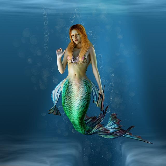 Mermaid, Water Creature, Water, Creature, Female