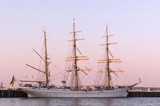 Kiel, Germany, Gorch Fock, Baltic Sea, Water, Sea
