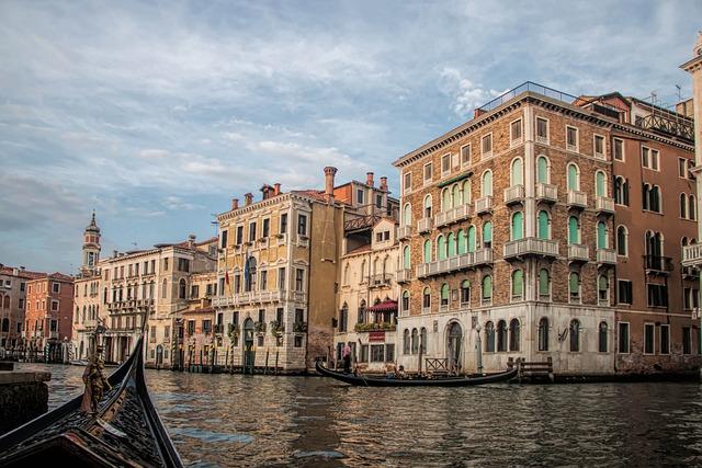 Venice, Italy, Venetian Canal, Water, Gondola