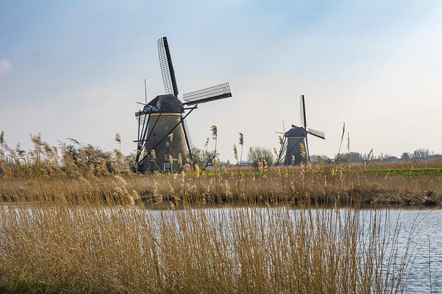 Holland, Mill, Windmill, Travel, Water, Tour, Tourism