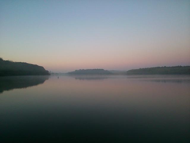 Lake, Sunrise, Nature, Deseda, Fog, River, Water