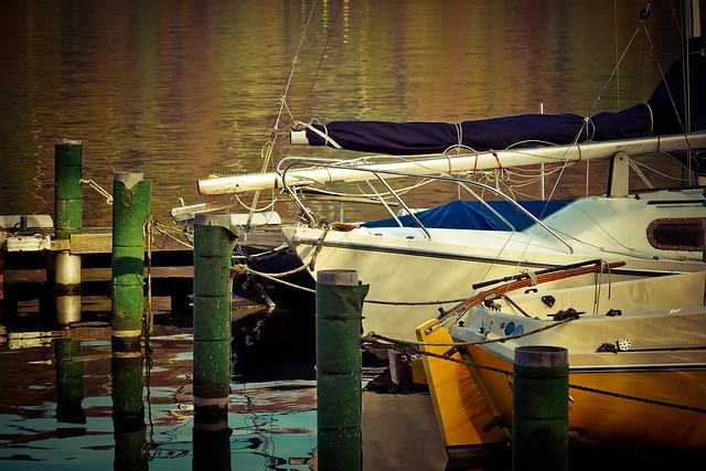 Lake, Boats, Water, Port, Bank, Landscape