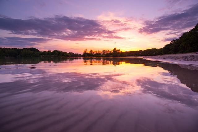 Water, Sunset, Reflection, Dawn, Landscape, Dusk, Lake