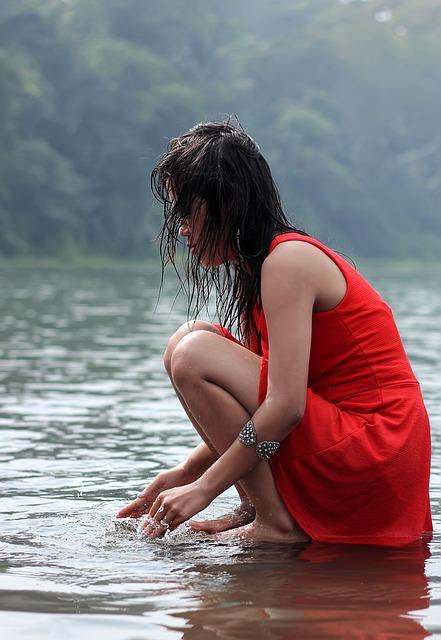 Woman, Female, Lake, Water, Beauty, Model, Photography