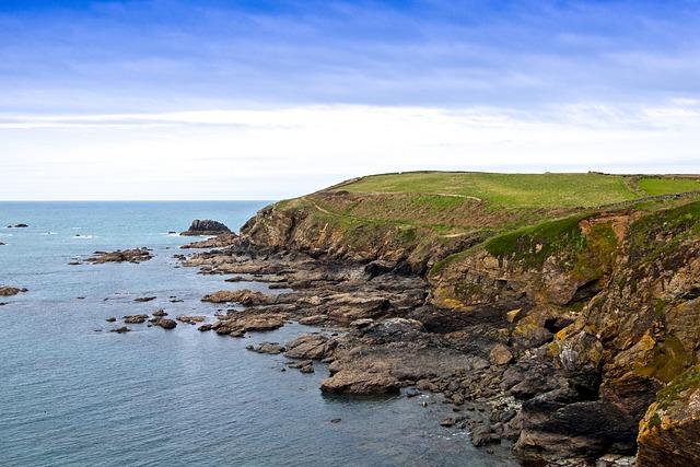 Landscape, Coast, Rock, Cornwall, Water