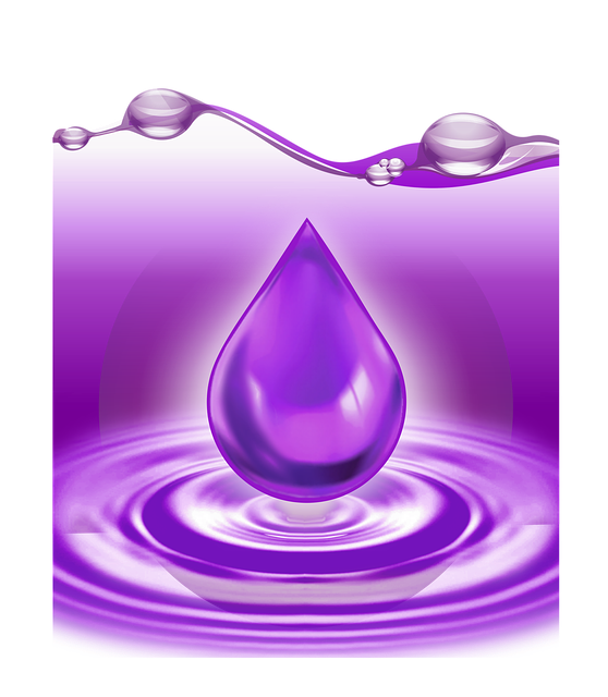 A Drop Of, Water, Lavender, Transparency, Violet