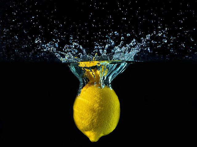 Lemon, Water, Drops, Yellow, Detail, Fruit, Fall, Bark