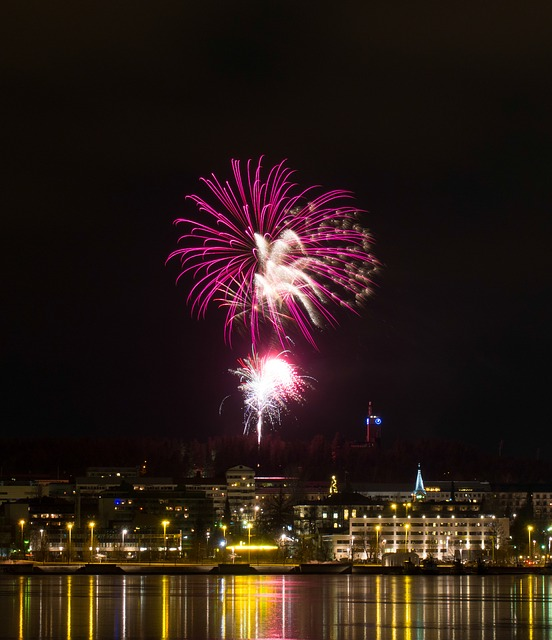 Fireworks, Color, Light, Colors, Water, Reflection
