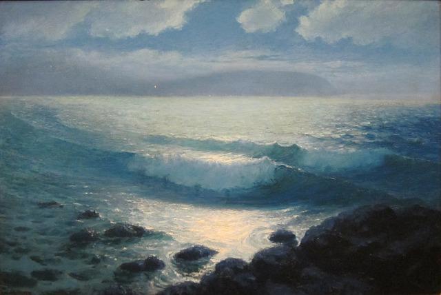 Lionel Walden, Sea, Ocean, Water, Sky, Clouds, Light
