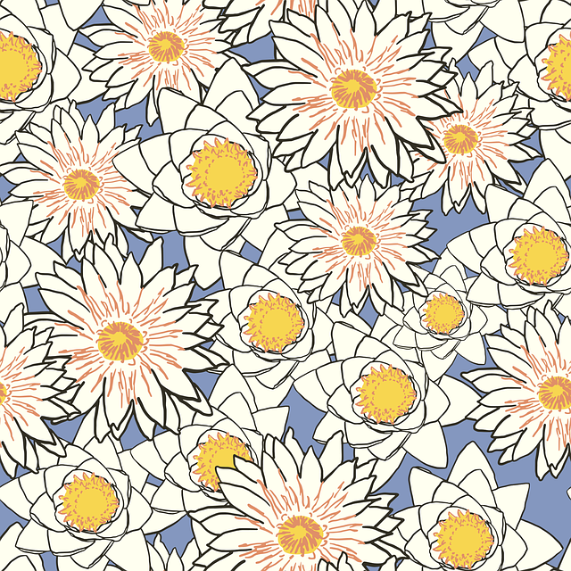 Flowers, Pattern, Lotus, Lily, Water Lily