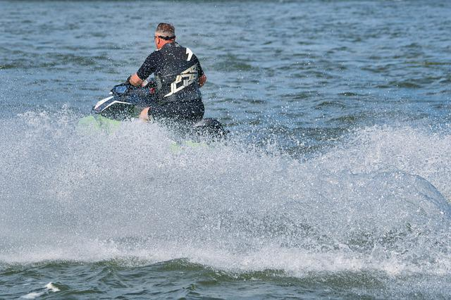 Man, Human, Summer, Vacations, Jet Ski, Fun, Water, Joy