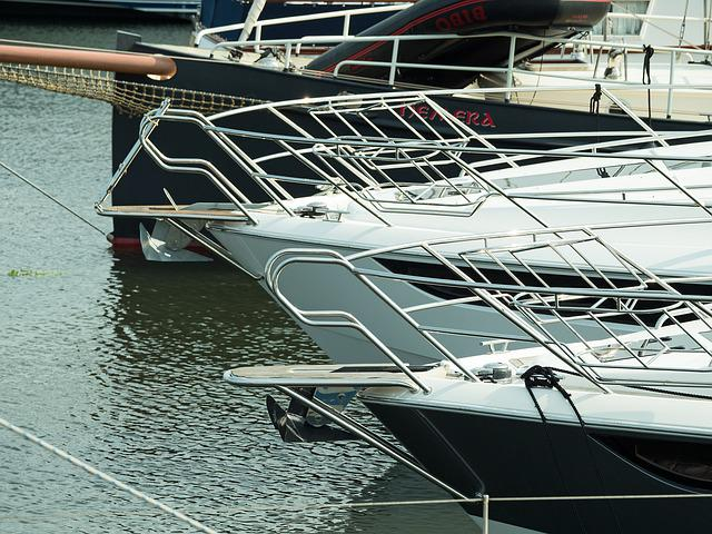 Sport Boats, Bugansicht, Marina, Berth, Port, Water