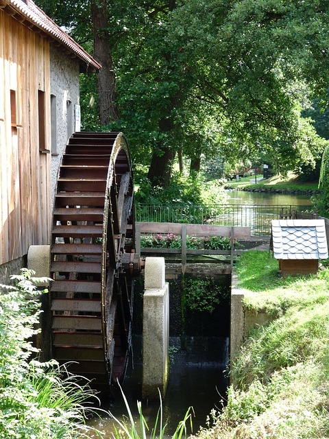 Mill, Building, Water Mill, Waterwheel, Müller, Grind
