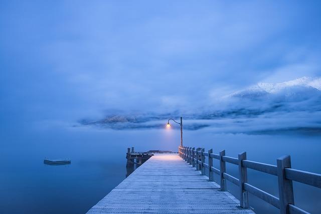 Water, Jetty, Ocean, Pier, Sea, Beach, Foggy, Misty