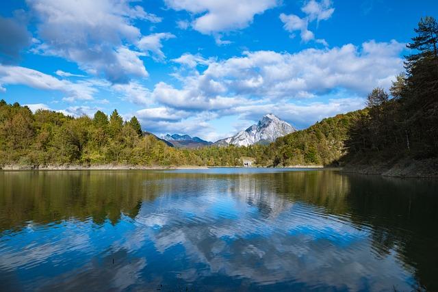 Lake, Reflections, Water, Mountain, Landscape